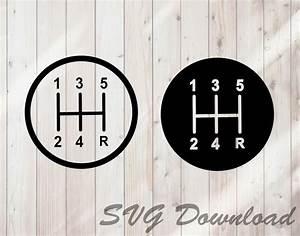 Stick Shift Svg Manual Gear Shift Svg Instant Download