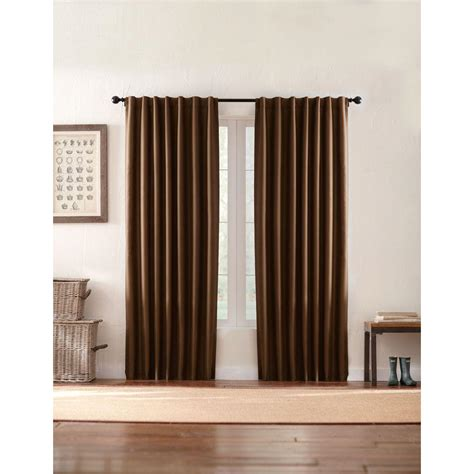 Back Tab Drapes by Home Decorators Collection Semi Opaque Brown Textured