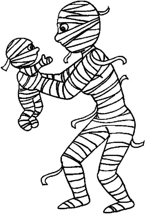 mumie omalovanky