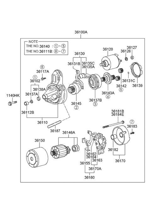 2002 Hyundai Elantra Parts by 2002 Hyundai Elantra Starter Motor Hyundai Parts Deal