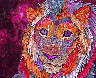 Trippy Lion Psychedelic Hippie Weed Stoner Trip