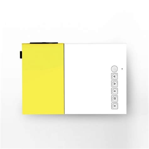 LED Beamer Projector Mobile Mini Full HD Yellow White