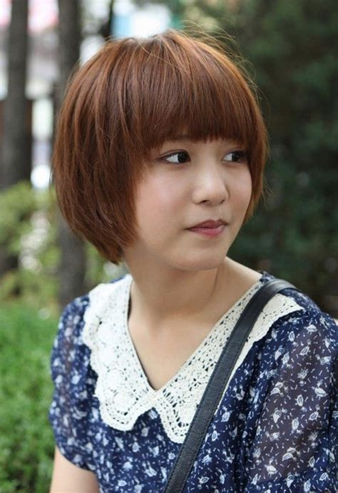 cute short korean bob hairstyle asian hairstyles