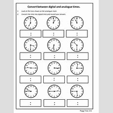 Convert Analogue To Digital Time Worksheet (ks2 Maths) By Hoppytimes  Teaching Resources Tes