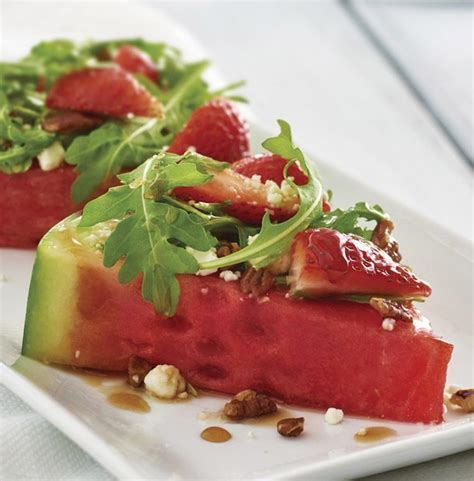 watermelon glaze watermelon salad with balsamic glaze fresh tupperware blog
