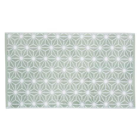 tapis de bain en coton vert d eau 50 x 80 cm nordic