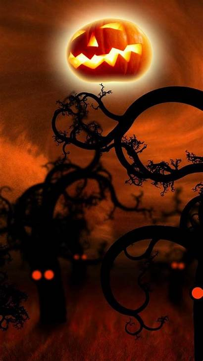Halloween Iphone Spooky Plus Wallpapers Forest Widescreen