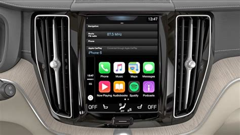 volvo   start  apple carplay youtube