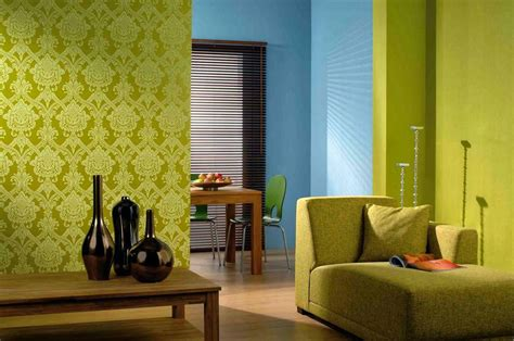 ide wallpaper mewah ruang tamu minimalis hijau desain