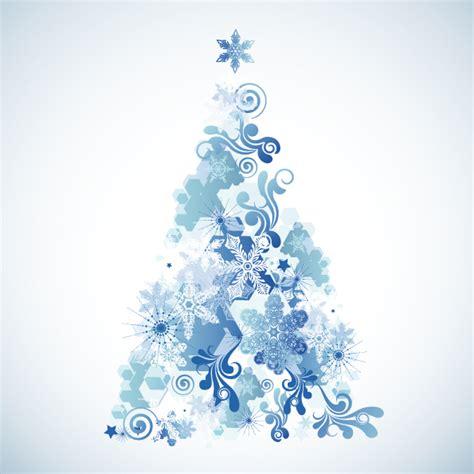 snowflake christmas tree vector free vector 4vector