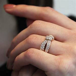 Seduction white gold ring fully set with diamonds for Chaumet wedding ring