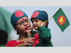 Kids With Bangladesh Flag Happy Independence Day