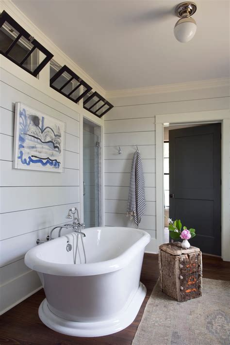 bathroom ideas for walls how to use shiplap in every room of your home hgtv s