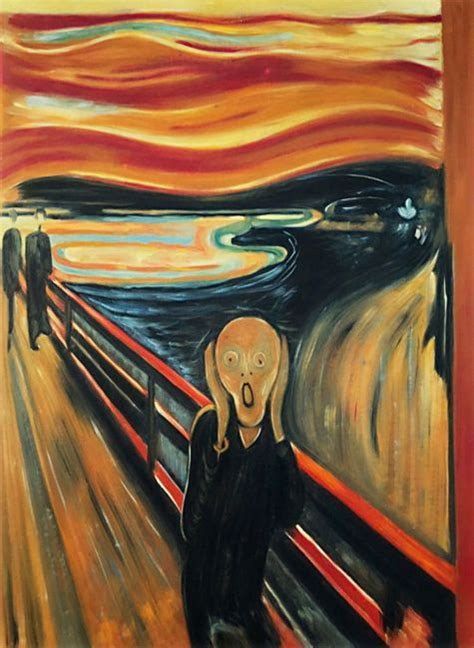 scream reproduction oil painting  munch