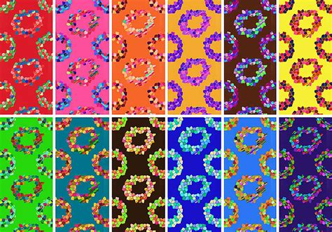 mosaic rings patterns  photoshop patterns