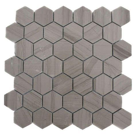 Hexagon Backsplash Tile Home Depot by Splashback Tile Athens Grey Hexagon 12 In X 12 In X 8 Mm