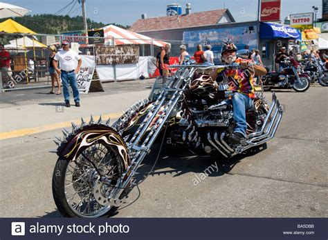 Huge Spiked Motorcycle And Sidecar Annual Sturgis