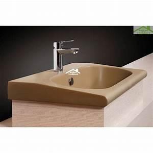 Meuble Vasque à Poser : vasque poser sur un meuble de bain 55x33x11 cm en porcelaine ~ Teatrodelosmanantiales.com Idées de Décoration