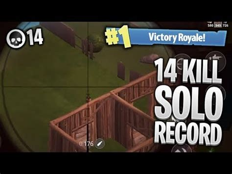 kill solo record pro fortnite mobile gameplay fortnite