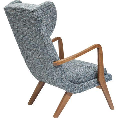chaise de bureau solde fauteuil a oreilles scandinave gris bleu silence mottle
