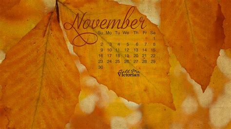 november  desktop calendar wallpaper call  victorian