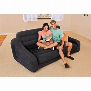 Inflatable pull out air sofa bed mattress sleeper blow up for Sofa bed vs pull out couch
