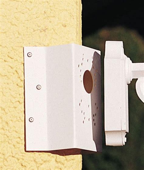 corner wall light bracket corner bracket in two finishes