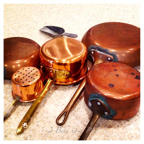 copper pots pans clean cleaning cooking salt polish 2beesinapod way few away pan safe diy baking wipe later days had