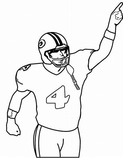Football Coloring Player Players Nfl Pages Drawings