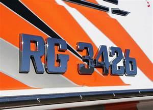 boat registration number lettering chrome emblem 3quot ebay With chrome boat letters