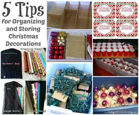organizing  storing christmas decorations