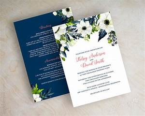 Affordable wedding invitations that will make you happy for Royal blue and coral wedding invitations