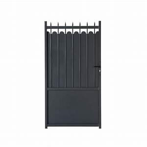 Portail En Fer Lapeyre : portillon aluminium adaggio gamme confort lapeyre ~ Premium-room.com Idées de Décoration