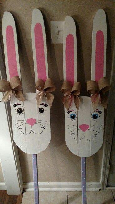 easter bunny pallets pallet crafts diy easter