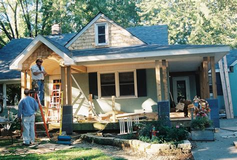 * Remodelaholic * Home Exterior Facelift; Adding A Porch