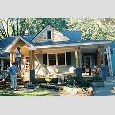 Remodelaholic  Home Exterior Facelift; Adding A Porch