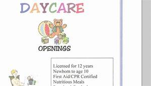5 daycare flyers templates af templates With daycare flyers templates free