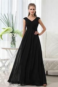 buy cheap elegant v neckline long black dress for wedding With long black dresses for weddings