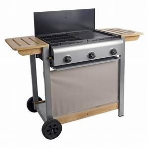 Plancha Ou Barbecue : barbecue gaz 3 br leurs grill plancha en fonte sur chariot 6 ~ Melissatoandfro.com Idées de Décoration
