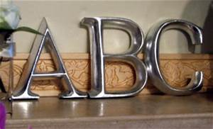 designed to the nines natalee 9 1 1 floating wall shelves With big silver letters for wall