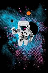 Raindow Astronaut Trippy Art - Pics about space