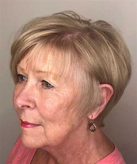 short hairstyles  older women  thin hair