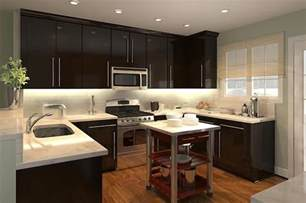 dark cabinets with white countertops home kitchen