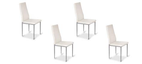 lot 4 chaises blanches lot de 4 chaises de salle à manger blanches lena