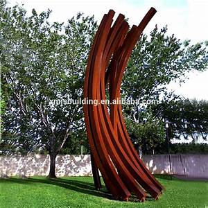 large fashion corten steel contemporary metal sculpture With sculpture moderne pour jardin