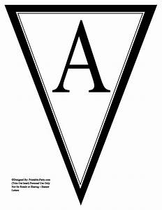 printable alphabet letters a z printable banner letters With triangle letter banner