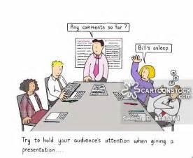 Funny Boring Meeting Cartoon