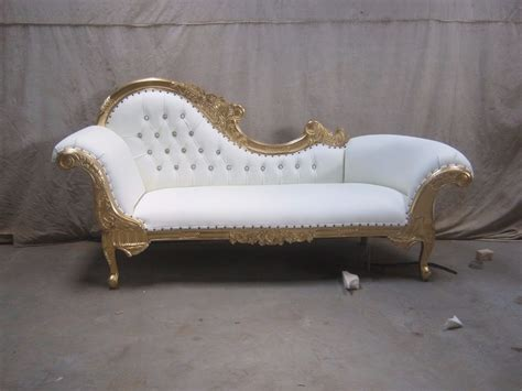 canapé chaise longue 3 gold leaf gilded chaise longue set wedding