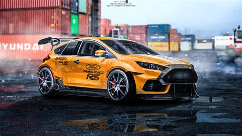Ford Focus Extrem Getunt by Artstation Ford Focus Rs 2015 Tuning Emil Arts