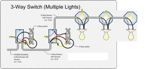 how to wire a three way light switch 3 way switch 3 lights doityourself community forums